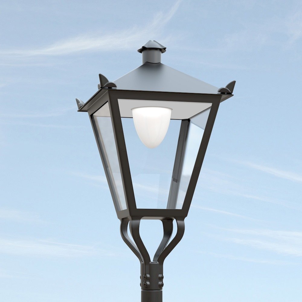 armatuur: vesting met directe lichttechniek (stolp)